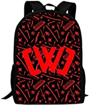 LASYLY Chad Wild Clay CWC Cool 3D Printing School Backpack Book Bags Shoulder Bag for Boy Girl