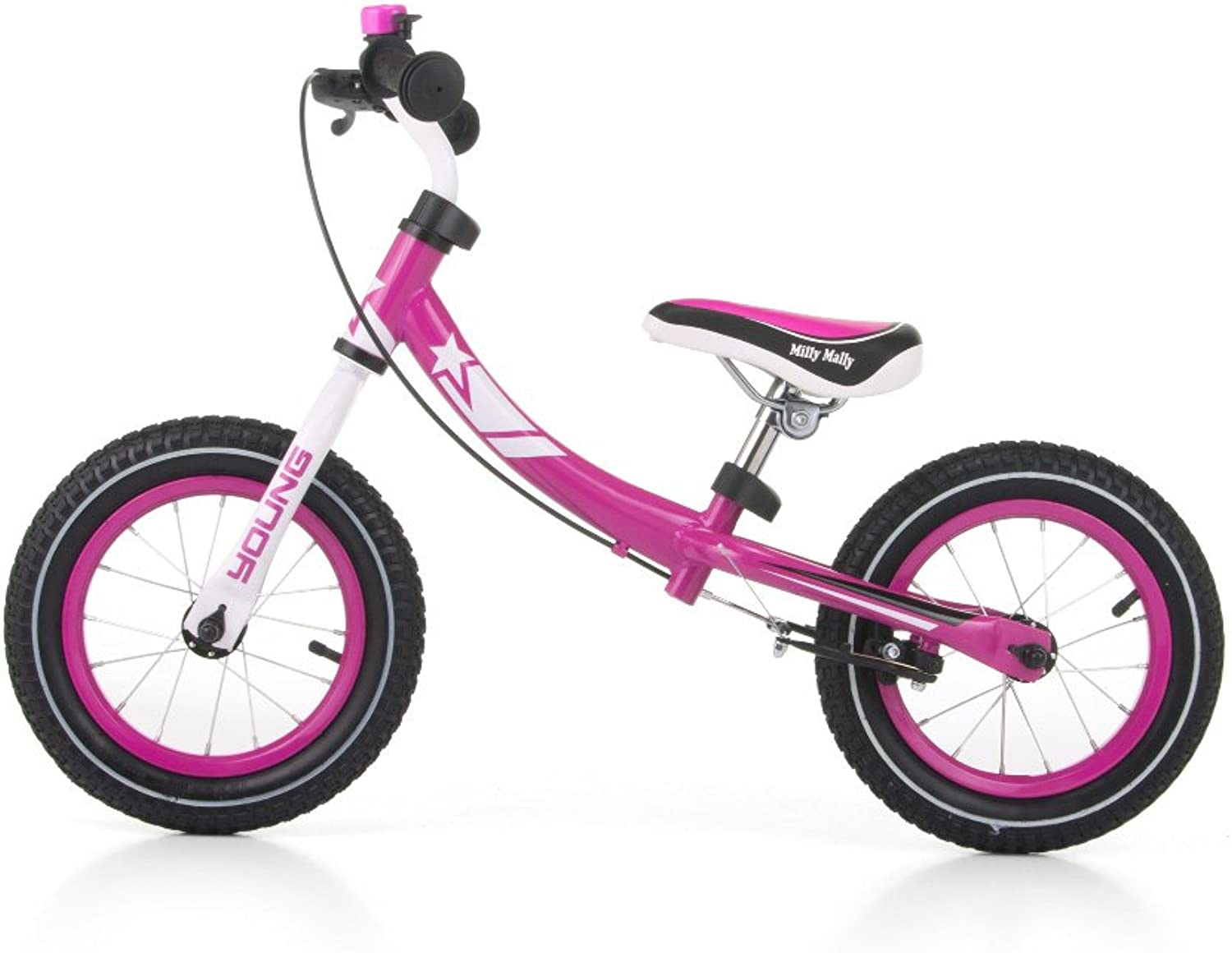 Milly Mally 22084 Young Balance Bike, Pink
