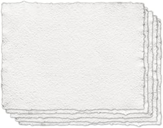 Indigo Artpapers 100% Cotton Handmade Paper for Mixed Media, 18 x 24 Inches, 200 GSM, 5 Sheets (CO2001824MM)