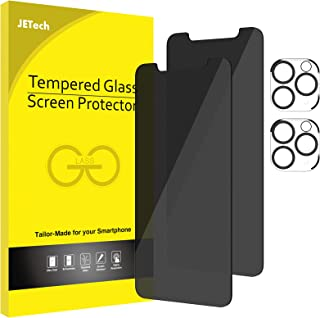 JETech Privacy Screen Protector and Camera Lens Protector Compatible with iPhone 11 Pro Max 6.5-Inch, Anti Spy Tempered Gl...