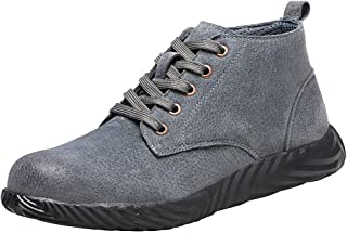 Womens Mens Safety Shoes Labor Insurance Shoes Steel Toe Work Shoes High-top Trainers Boots Casual Shoes By God's pens