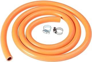 iMiMi - Manguera de desconexión para regulador de Gas (150 cm, Caucho, Natural, con 2 Accesorios), Color Naranja
