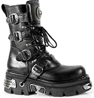 414beff9c76d8 New Rock Newrock 373 S4 métallique Noir Bottes en Cuir Motards Goth Emo  Fashion