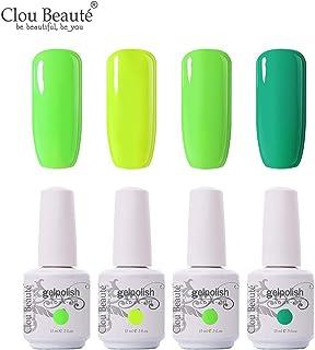 Clou Beaute Soak Off UV Led Nail Gel Polish Kit Varnish Nail Art Manicure Salon Collection Set of 4 Colors 15ml CB-Set13