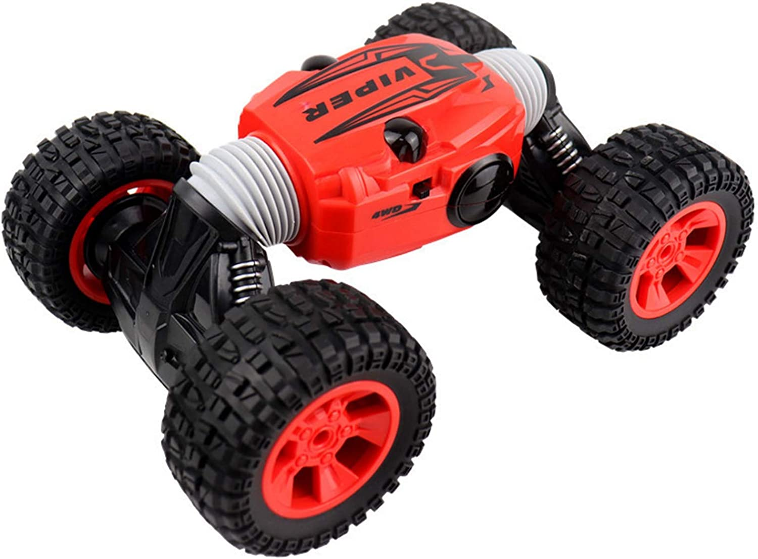 TOOGOO Rc Car 1 16 Scale DoubleSided 2.4Ghz One Key Transform AllTerrain OffRoad Vehicle Climbing Truck Remote Control Car,Red