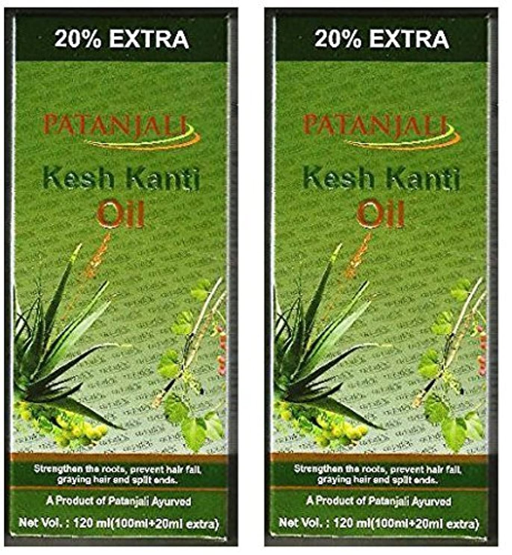 雄弁家経歴便利2 x Patanjali Kesh Kanti Hair Oil 100ml (Pack of 2) [並行輸入品]