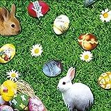 Mantel Hule Por Metro Pascua Huevos Pascua Conejo de Pascua k764-1 tamaño SELECCIONABLE en Ovalado Rectangular Redondo - Más Colores, 140 cm rund