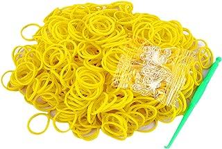 Salome Idea Rubber Bands -3000pcs Rubber Loom Bands Barcelet Making Kit,25pcs S-Clips,5-Hooks (Yellow)