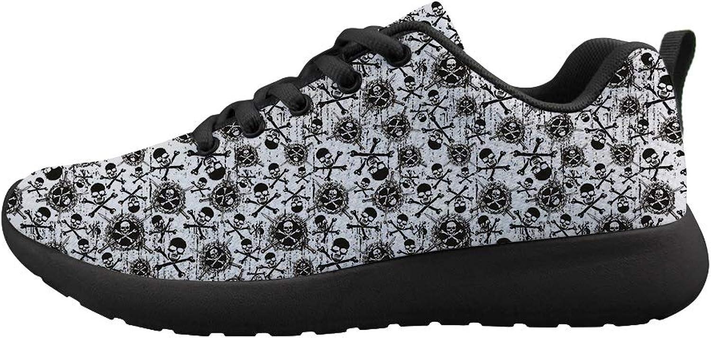 Ohaheson Cushioneing Sneeaker Trail springaning skor herr herr herr kvinnor Cross Bones Svärd av Dödspirat Skulls  snabb frakt över hela världen
