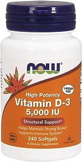 NOW Foods - 维生素D3的有力 5000 IU - 240软胶囊