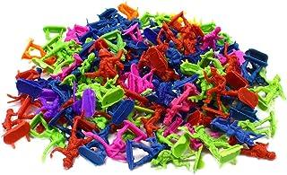 Toyvian Soldados de Juguete Mini Figuras Modelo Militar estático Ejército Hombres Juego de Figura para niños Niños (Aleatorio) 50pcs