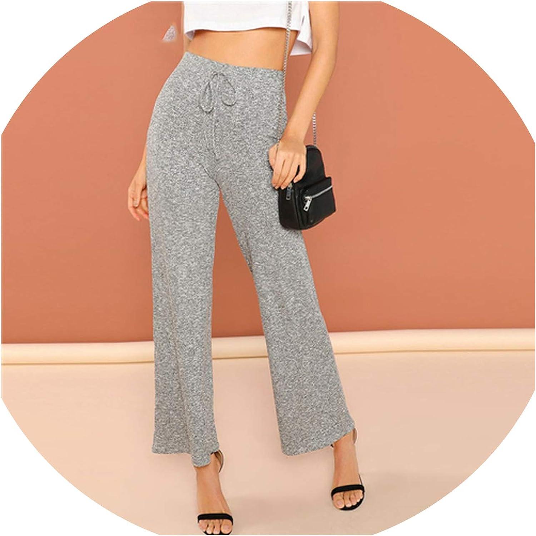 Peony red Elegant Minimalist Wide Leg Pants High Waist Loose Women Pants Autumn Workwear Trousers