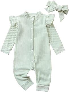 الوليد الرضع طفل الفتيان الفتيات الصلبة رومبير أسفل طويلة الأكمام بذلة الاطفال ارتداءها الملابس (Color : Green, Size : 3T)