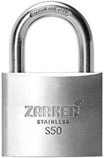 [ZARKER S50] Premium Stainless Steel Lock-Rust Preventative. Tcontainer storages Warehouses Vehicles Outside or etc. Suita...