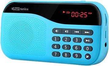 Portronics POR-142 Plugs Portable Speaker with FM & MicroSD card Support (Blue)