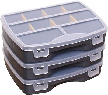 Idea Station Boite De Rangement Plastique 3 Pieces 19 X 15 Cm Anthracite Compartiments Reglables Boite Compartiment Malette Rangement Petite Bijoux Pour Enfants Amazon Fr Cuisine Maison