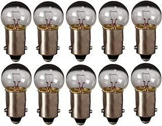 Eiko - 55 Mini Indicator Lamp - 7 Volt - 0.41 Amp - G4.5 Bulb - Miniature Bayonet Base - 10 Pack