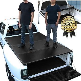 DNA MOTORING TTC-HARD-014 Truck Bed Top Hard Solid Tri-Fold Tonneau Cover
