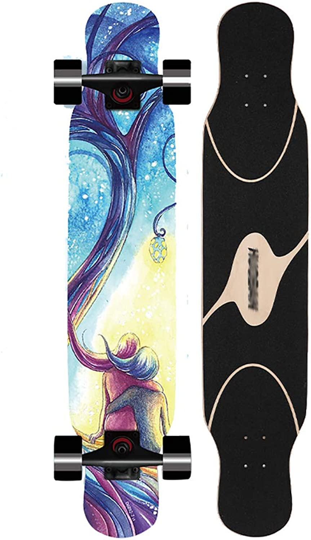 RONGXIN Cruiser Longboard - Profi-Skateboard - Anfänger - Jungen Und Mädchen - Roller - Brush Street Skateboard B07HD82S3R  Vollständige Spezifikationen
