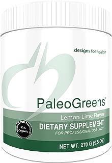 Designs for Health PaleoGreens - Organic Green Shake Powder with Lemon-Lime Flavor (30 Servings / 270g)