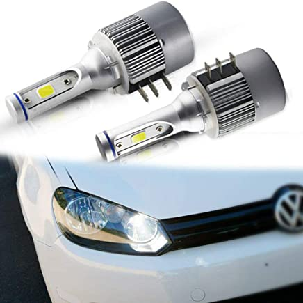 Richdoo 2X L Cree 8 LED Car DRL Daytime Running Lights White For E Class L Shape 5050 1set