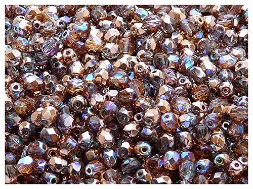 Czech glass irregular clear round beads 7 mm pack of 50