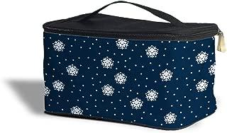 Kawaii Winter Snowflakes Cosmetics Storage Case - Makeup Zipped Travel Bag