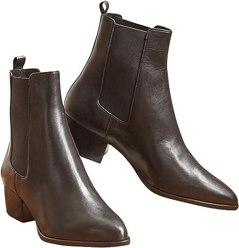 Cyrillus bottes bottes bottes Chelsea Cuir Femme 4dc