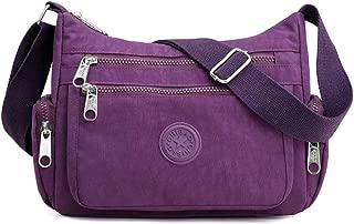Multi Pocket Crossbody Bag Spacious Shoulder Purse Waterproof Travel Handbags for Women