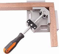 HYWFX Abrazadera de ángulo Recto Herramienta de sujeción de Aluminio de 90 Grados Abrazadera de Esquina de aleación de Aluminio Sola manija de carpintería Frame de ángulo Recto