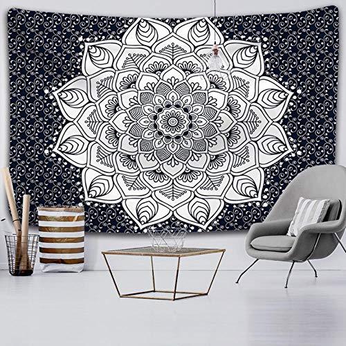 Tapiz mandala negro y blanco sol y luna tapiz hippie tapiz dormitorio decoracin del hogar manta