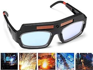 1 Pair Black Solar Auto Darkening Welding Goggle Safety Protective Welding Glasses Mask Helmet, Eyes Goggles Mask Anti-Flo...