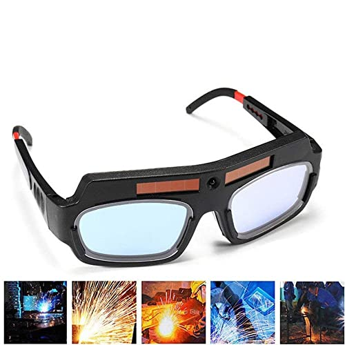 1 Pair Black Solar Auto Darkening Welding Goggle Safety Protective Welding Glasses Mask Helmet, Eyes