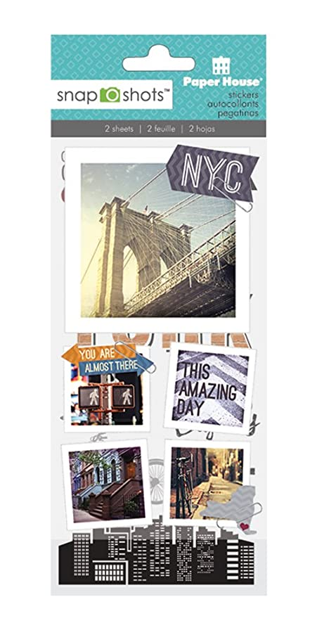 Paper House Productions STSS-2000E SnapShot Sticker, New York City (3-Pack)