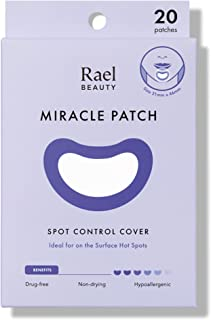 Rael Spot Control Cover Long - Large Patches, Hydrocolloid Strip for Breakouts, Extra Coverage Acne Patch (20 Count)
