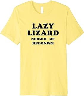 Lazy Lizard School Of Hedonism, Retro Acid, LSD Trip Premium T-Shirt