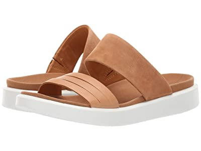 ECCO Flowt Slide Sandal (Lion/Cashmere Cow Leather/Cow Nubuck) Women