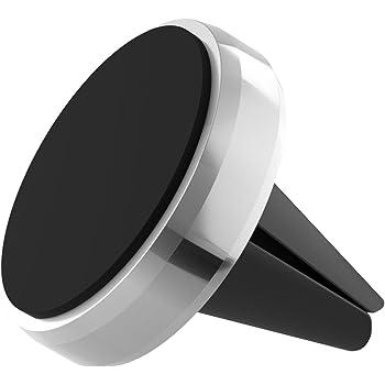 boldR Soporte Metálico de Celular para Auto. Color plateado. Base / Stand Compatible con iPhone 5/ 6 / 6 plus / Galaxy 5 / 6 / 7 / 7 Edge, Motorola, LG, Huawei, Nexus o cualquier otro smartphone