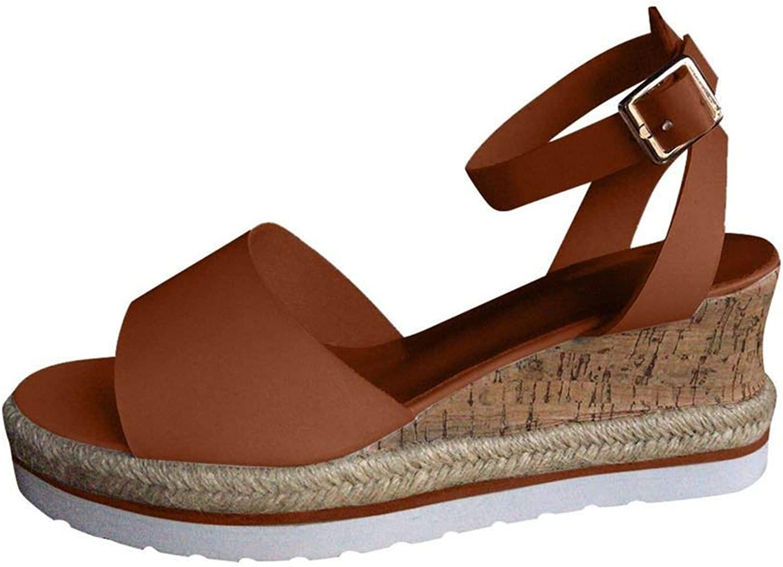 Women Sandals Retro Open Toe Ankle Summer Platform Wedges shoes