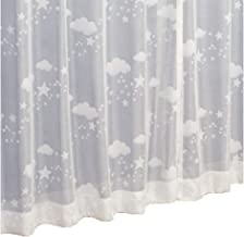 星雲 柄 レースカーテン 2枚組 (ミラー UVカット ウォッシャブル) (巾100cm×丈176cm)
