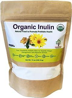 NAMANNA Organic Inulin FOS Powder –12 oz, Natural Fiber from Jerusalem Artichoke, Prebiotic Intestinal Support, Digestive ...