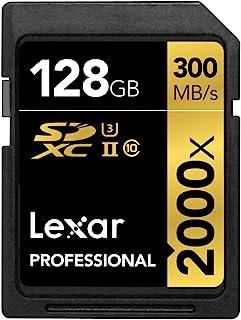 Lexar Professional 2000x 128GB SDXC UHS-II/U3 (Up to 300MB/s Read) w/USB 3.0 Reader - LSD128CRBNA2000R