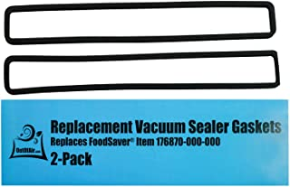 Replacement Gaskets (2 Foam Gaskets) for FoodSaver - Fits FM2000, FM2010, FM2100, GM2050, GM2150 Series Vacuum Sealers (Replaces FoodSaver Item 176870-000-000) by OutOfAir
