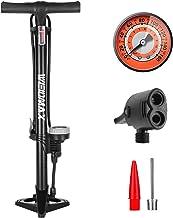 WEIDMAX Fietspomp, ergonomische fiets vloerpomp fietsband inflator fiets luchtpomp draagbare inflator pomp met meter en sl...
