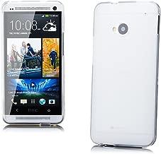 HTC One M7 | iCues TPU de Matt White | Transparente lámina protectora caso de la piel Claro Claro gel de silicona transparente de protección [protector de pantalla, incluyendo] Cubierta Cubierta Funda Carcasa Bolsa Cover Case