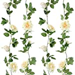 Felice-Arts-2pcs-13-FT-Fake-Rose-Vine-Flowers-Plants-Artificial-Flower-Hanging-Rose-Ivy-Home-Hotel-Office-Wedding-Party-Garden-Craft-Art-Decor