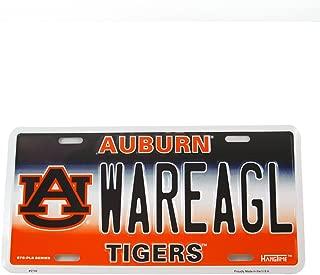 HangTime Auburn University WAREAGL Tigers Metal License Plate Wall Sign Tag