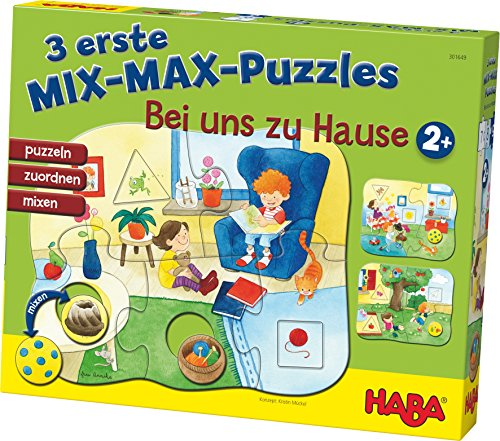 HABA 301649 3 Mix-Max puzzels thuis