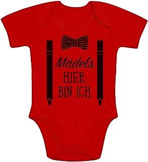 Shirtgeil Mädels, Hier Bin Ich! - Geschenk für Neugeborene Jungen Baby Kurzarm Body