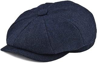 CHENTAI Wool Tweed Herringbone Newsboy Cap for Men 8-Quarter Panel Cabbie Flat Caps Women Driver Casual Beret Hat